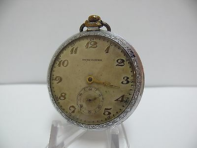 Vintage Ancre 10 Rubis Pocket Watch For Parts Or Repair, No Reserved!!!