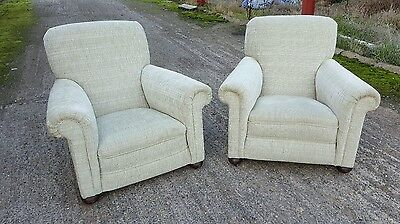 A stunning Pair of Stunning Reupholstered antique/Victorian Armchairs