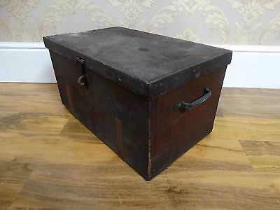 rustic and distressed antique victorian pine trunk, blanket box storage crate