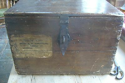 Old wooden travel trunk  c1891