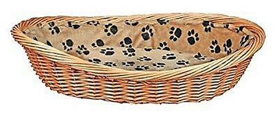 Trixie Wicker Dog / Puppy Bed Cushion Lining With Pawprints Foam Padding. 60cm