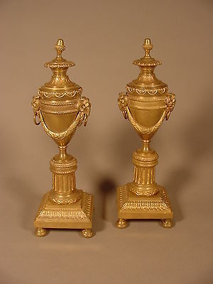 A Pair Of Louis Xvi Style Ormolu Cassolettes Or Candlesticks