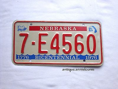 *UNUSED 1976 NEBRASKA MADISON COUNTY Vintage License Plate BICENTENNIAL #7-E4560