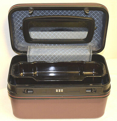 Medium sized Make-up luggage case with mirror & top tray