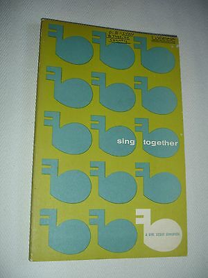 "Vintage ""Sing Together: A Girl Scout Songbook"" ~1957~Paperback"