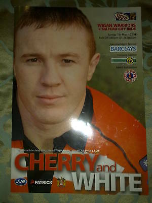 Wigan v Salford Rugby League Programme 07.03.04 VGC