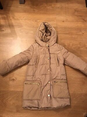 Girls Zara Down Hooded Coat Age 7-8