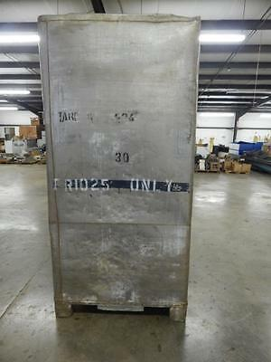 Bulk Bins Stainless Steel 48x43x97 with discharge chute approx 800 lbs empty.
