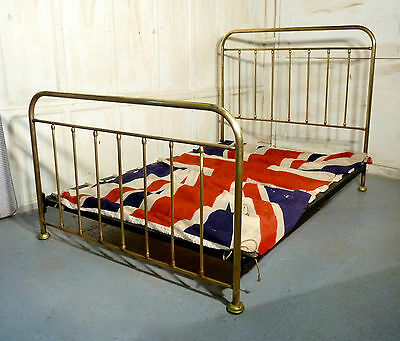 A Good Victorian Brass Double Bed