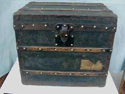 Antique Louis Vuitton Trunk ( Rivets Marked Louis Vuitton,rubbed due to age )