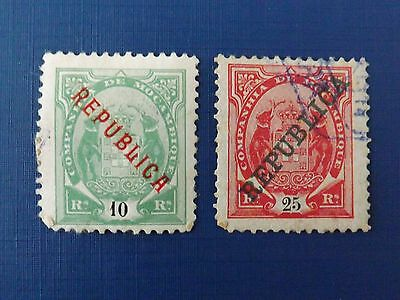 1911 Mozambique Company, mounted mint & used stamps x 2