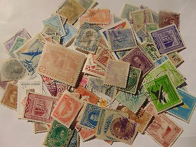 South America a collection of 170 different used stamps as picture off paper