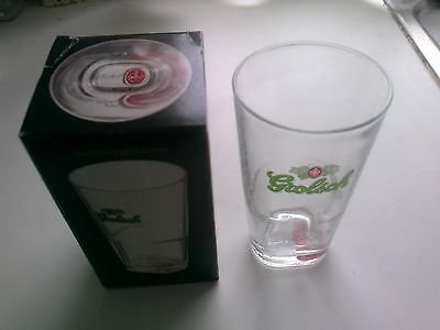 Limited edition Grolsch half pint glass, boxed.