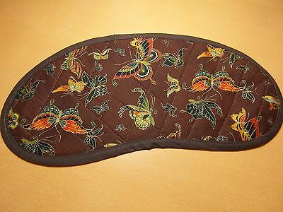 Bobbin Lace Pillow Pad for Continental Bobbins - Brown Butterfly Design