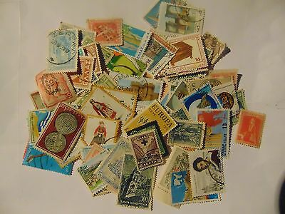 Greece a collection of 90 different used stamps as picture off paper