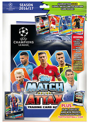 2016/2017 Topps UEFA Champions league Starter pack. Limited Edition GOLD Messi