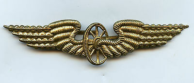 Denmark Danish Railroad Cap Badge Nice Grade !!!