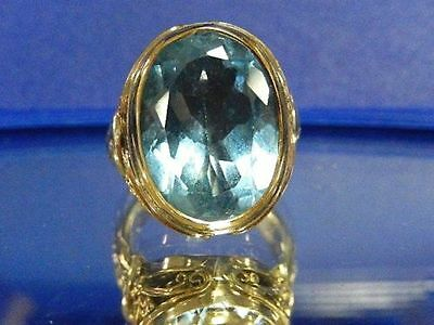 Konstantino 18k Yellow Gold Sterling Silver Blue Topaz 10ct. Ring Size 6 $1,699