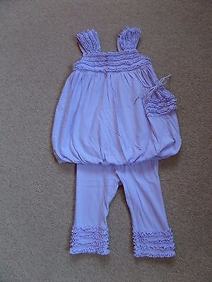 EXQUISITE Girl's DESIGNER Outfit by LUNA LUNA Age 3 Lilac RRP $95-LOW START