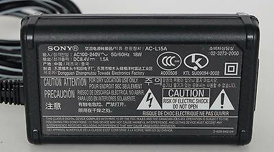 Genuine Sony AC-L15A Charger Adaptor Power Supply Camcorder