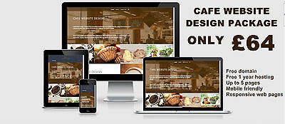 CAFE WEBSITE DESIGN PACKAGE - MOBILE FRIENDLY WEB PAGES - retired UK designer