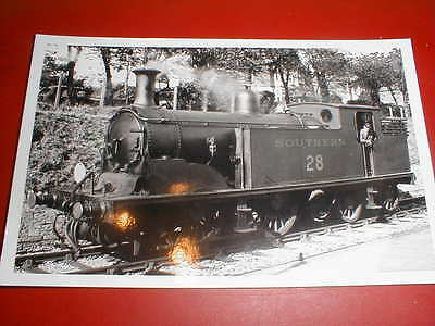 "LOCO PHOTO LSWR / SOUTHERN RLY / BR  0-4-4T ""M7""  CLASS  LOCO No 28"