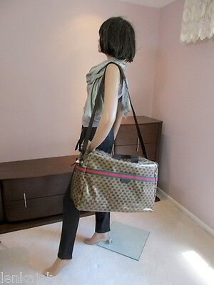 Gucci Large Crystal Guccissima Duffel Travel Weekender Bag 374770