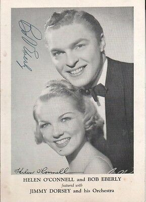 Bob Eberly & Helen O'Connell Autographede Photo Popular Singers D.81