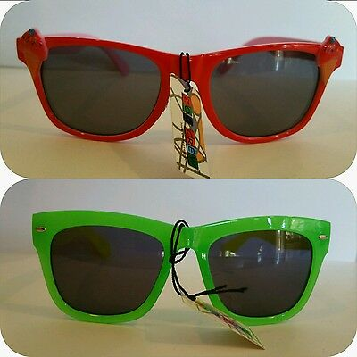 Kids Boys Girls Sunglasses 2 Pack Multi Color Shades Red Green UV400