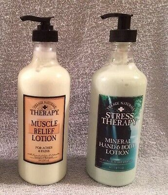 Village Naturals Therapy Muscle Relief Lotion Mineral Hand & Body Lotion