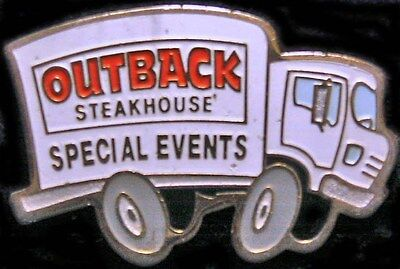 A3233c Outback Steakhouse hat lapel pins SE Truck White
