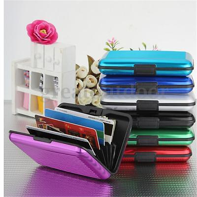 Waterproof Pocket Business ID Credit Card Wallet Holder Aluminum Metal Case Box