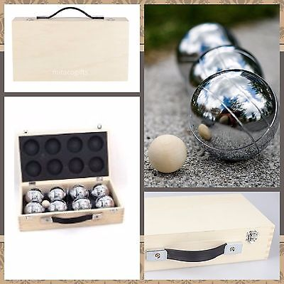 New 8 Ball Bocce / Boule / Petanque Ball Set with Carry Box- 2 Patterns/2Teams