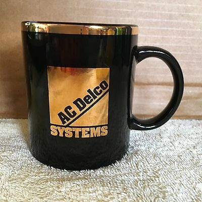 ac delco coffee cup black with gold letters