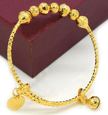 71f6dc523ae44 18K GOLD BRACELETS Baby;s Girl's Children;s Kid;s Adjustable +GiftPg D288