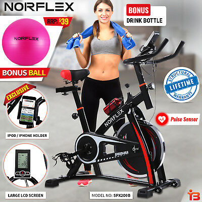 Norflex Spin Bike Flywheel Fitness Commercial Exercise Indoor Home Workout Gym B
