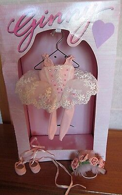 """RARE! Vogue Pink Roses Ballet Ballerina Outfit for 8"""" Modern Ginny Doll EUC 2003"""