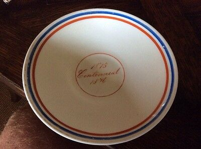 Antique 1876 Centennial Exhibition  Philadelphia CHINA pottery PLATE