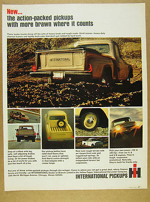 1965 IH International Harvester Pickup Truck 7x color photo vintage print Ad