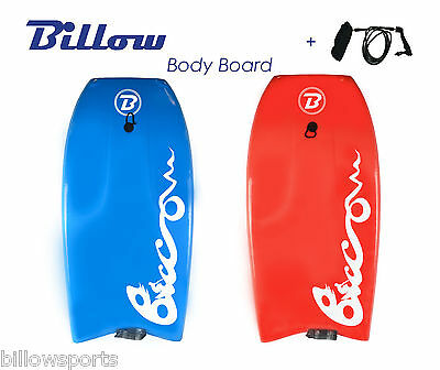 "Billow 45"" Body board Boogie Board,42.5"" Bodyboard Surfboard with wrist leash"