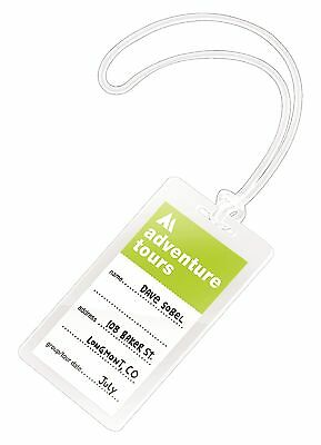 Swingline GBC UltraClear Thermal Laminating Pouches Luggage Tag Size with... New