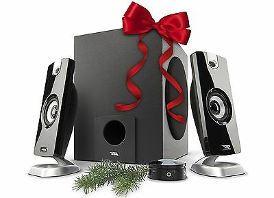 Cyber Acoustic CA 3080 2.1 Powered Speaker System Grey New