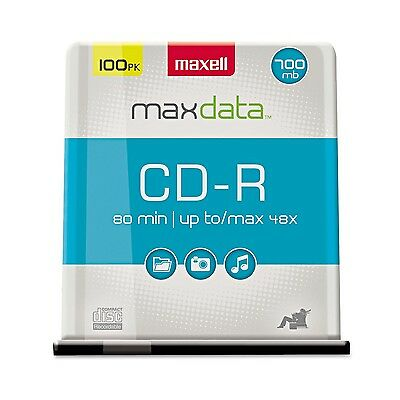 Maxell 100-Pack 700 MB 80 Min CDR 648200 New