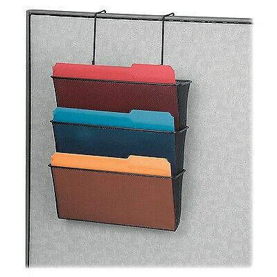 Fellowes Mesh Partition Additions Letter Size Black Triple File Pocket (7... New