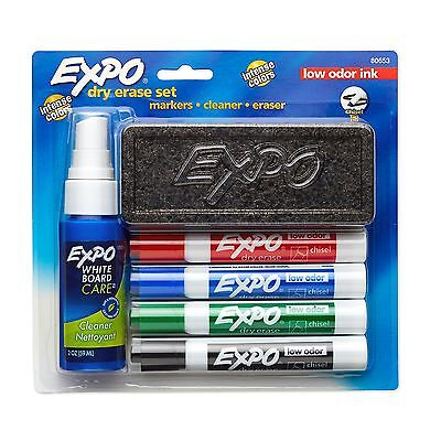 Expo Low-Odor Dry Erase Set Chisel Tip 6-Piece Assorted Colors (80653) New