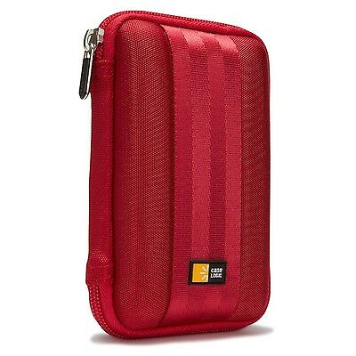 Case Logic Portable EVA Hard Drive Case Red New
