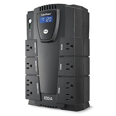 CyberPower CP600LCD Intelligent LCD UPS 600VA 340W Compact New