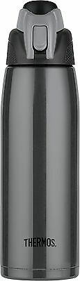 Thermos  Vacuum Insulated Hydration Bottle Stainless Steel 24-Ounce Charc... New