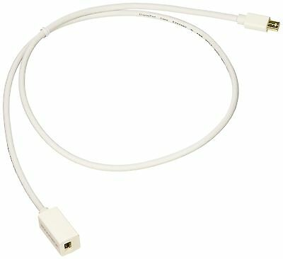 Monoprice 3ft 32AWG Mini DisplayPort Male to Female Extension Cable-White New