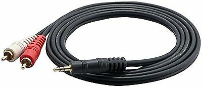 Pyle-Pro PCBL42FT6 12 Gauge 6-Feet RCA Male to 3.5mm-Inch Male Cable New